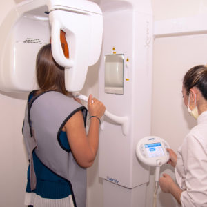 Panoramic X-ray in the dental studio